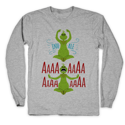 Grinch Yoga Long Sleeve T-Shirt