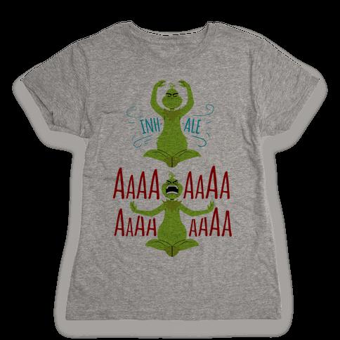 Grinch Yoga Womens T-Shirt