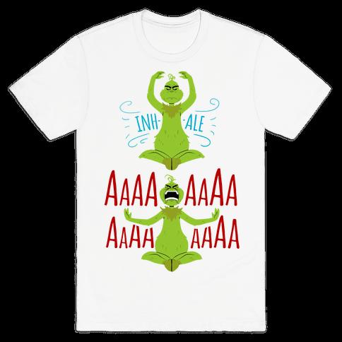 Grinch Yoga Mens T-Shirt