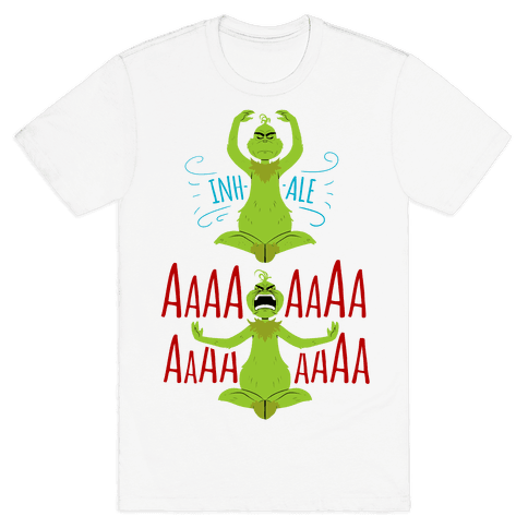 Grinch Yoga Mens T-Shirt