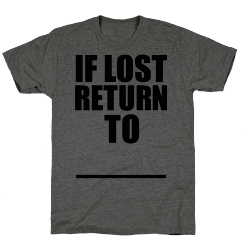 If Lost Return To Pair 1