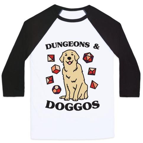 Dungeons & Doggos Baseball Tee