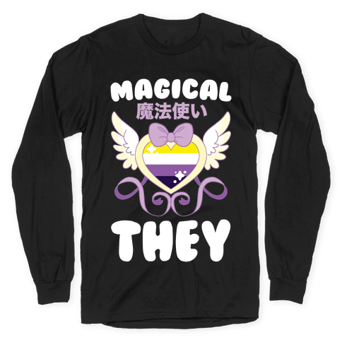 Magical They - Non-binary Pride Long Sleeve T-Shirt