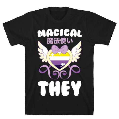 Magical They - Non-binary Pride Mens/Unisex T-Shirt