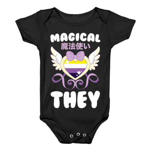 Magical They - Non-binary Pride Baby Onesy