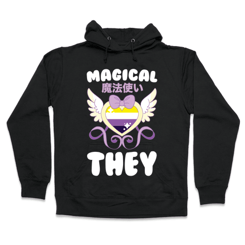 Magical They - Non-binary Pride Hooded Sweatshirt
