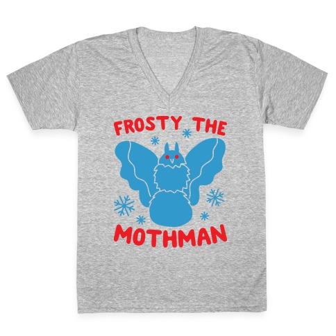 Frosty The Mothman V-Neck Tee Shirt