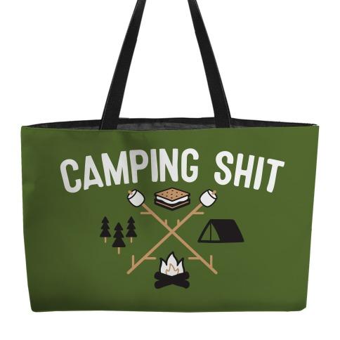 Camping Shit Weekender Tote