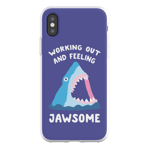 Working Out And Feeling Jawsome Phone Flexi-Case