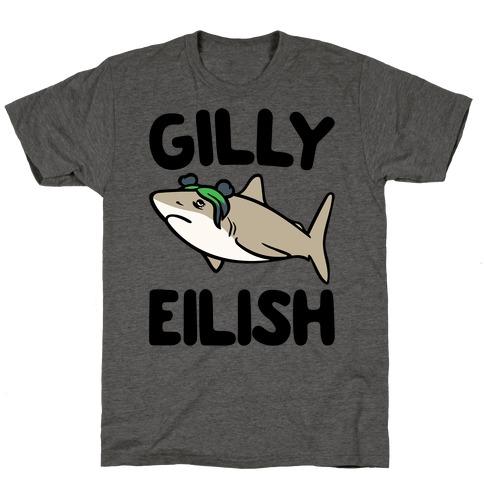 Gilly Eilish Shark Parody T-Shirt