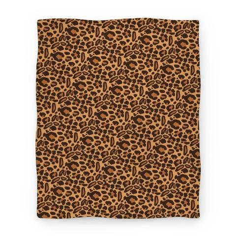 Leopard Print Pattern Blanket