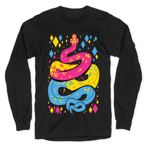 Pride Snakes: Pansexual Long Sleeve T-Shirt