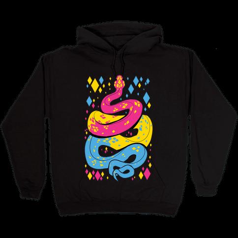 Pride Snakes: Pansexual Hooded Sweatshirt