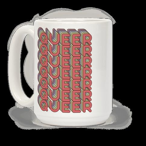 Queer Retro Rainbow Coffee Mug