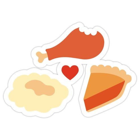 Thanksgiving Trinity Die Cut Sticker