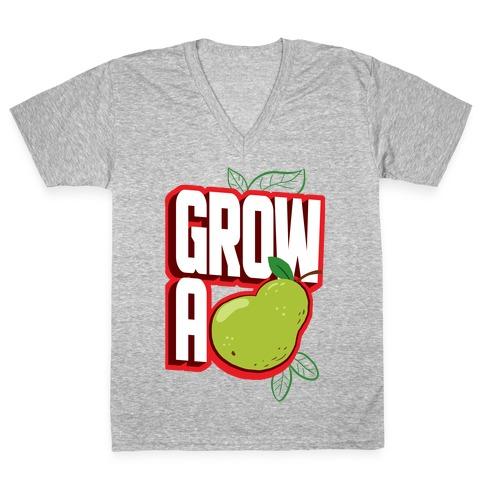 Grow A Pear V-Neck Tee Shirt