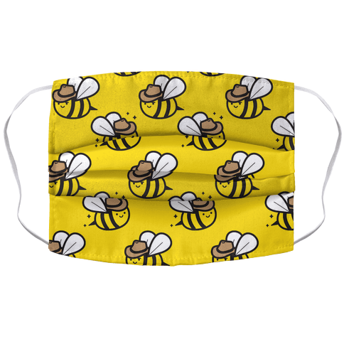 Beehaw Cowboy Bee Face Mask Cover