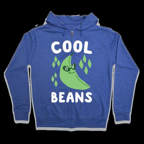 Cool Beans  Zip Hoodie