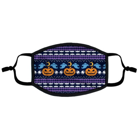 Ugly Halloween Sweater Flat Face Mask