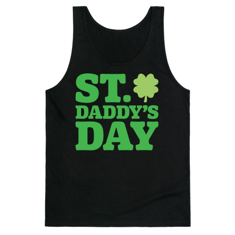 St. Daddy's Day White Print Tank Top
