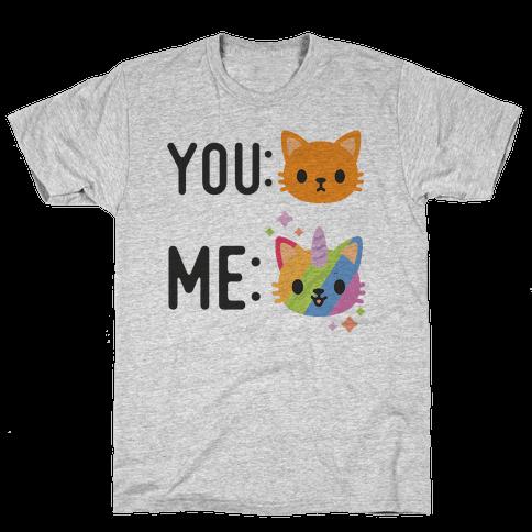 You Me Caticorn Mens T-Shirt