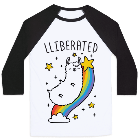 Liberated Llama Baseball Tee