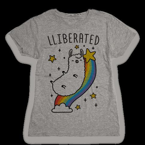 Liberated Llama Womens T-Shirt