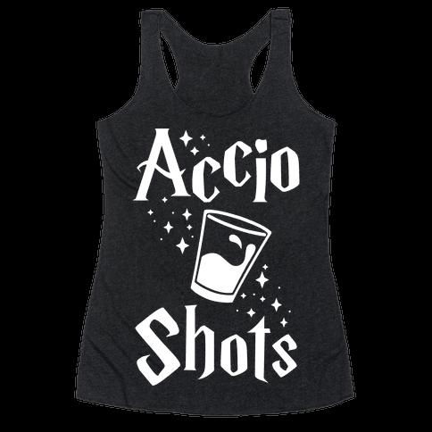 Accio Shots Racerback Tank Top