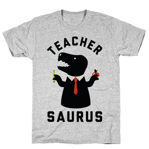 Teacher Saurus Tie T-Shirt