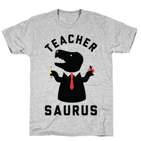 Teacher Saurus Tie T-Shirt
