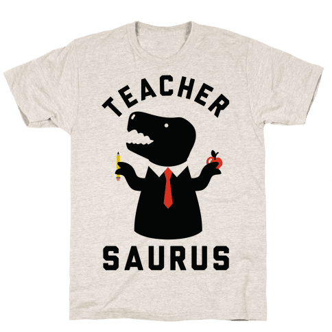 Teacher Saurus Tie Mens T-Shirt