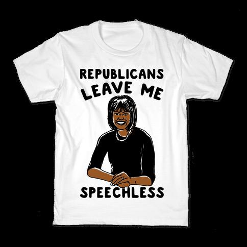 Republicans Leave Me Speechless Kids T-Shirt