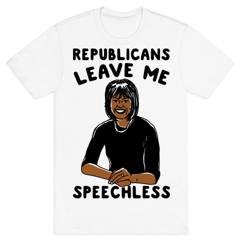 Republicans Leave Me Speechless Mens T-Shirt