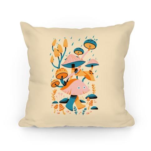 Mushroom Forest Spirits Pillow