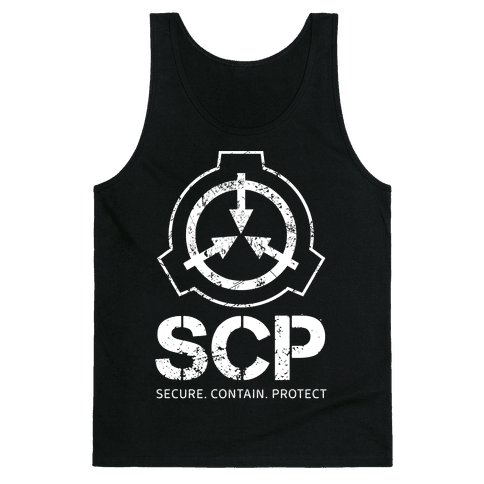SCP Secure. Contain. Protect Tank Top