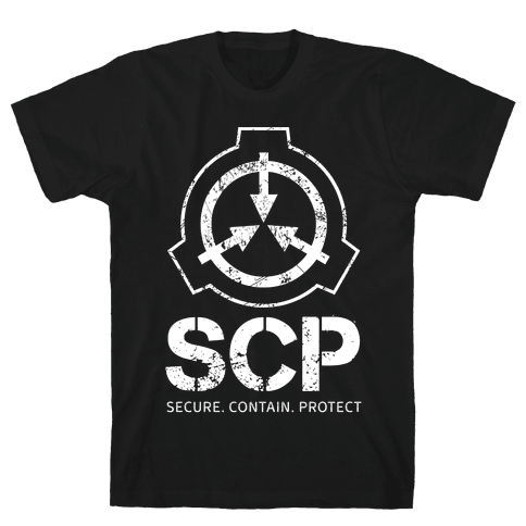 SCP Secure. Contain. Protect Mens/Unisex T-Shirt