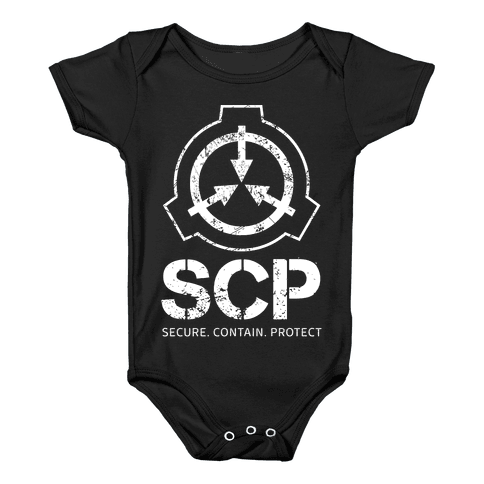 SCP Secure. Contain. Protect Baby Onesy