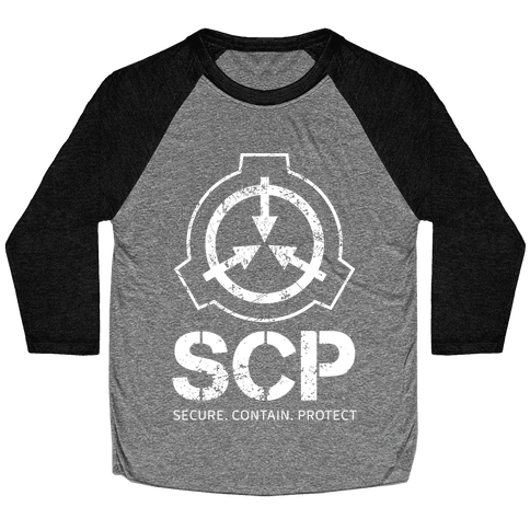 SCP Secure. Contain. Protect Baseball Tee