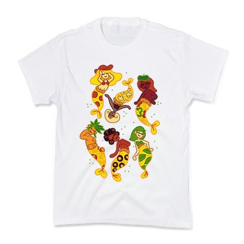 Pizza Mermaids Kids T-Shirt