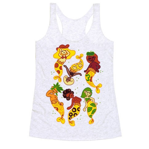 Pizza Mermaids Racerback Tank Top