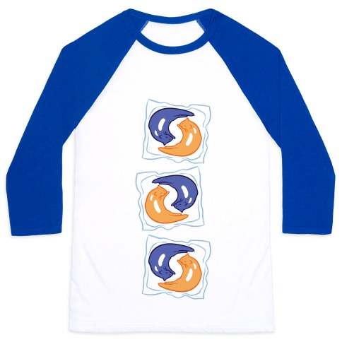 Tide Pod Cats Parody Baseball Tee