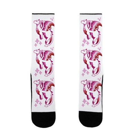 Lesbian Pride Dragon Sock
