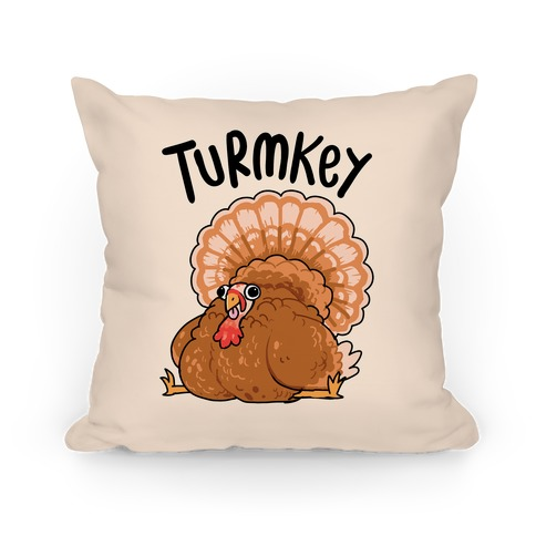 Turmkey Derpy Turkey Pillow