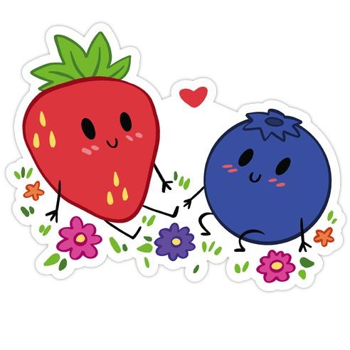 Berry Good Friends Die Cut Sticker