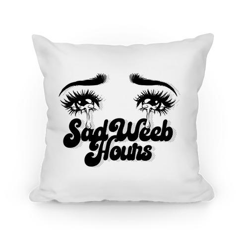 Sad Weeb Hours Pillow