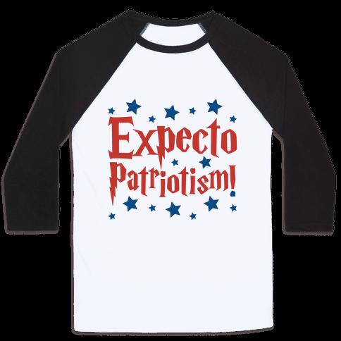 Expecto Patriotism Parody Baseball Tee