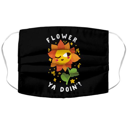 Flower Ya Doin'?  Accordion Face Mask