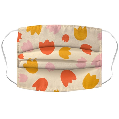 Warm Tulips Pattern Face Mask Cover