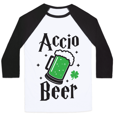 Accio Beer St. Patrick's Day Baseball Tee