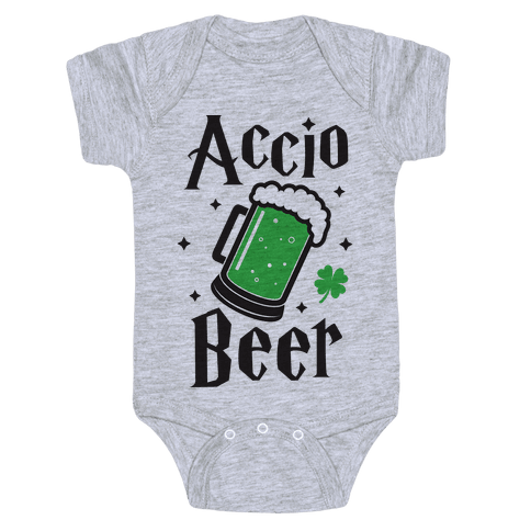 Accio Beer St. Patrick's Day Baby Onesy